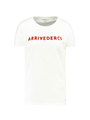 garcia t-shirt met tekst G90012 wit
