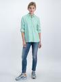 garcia gestreepte blouse o00030 groen