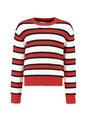 garcia gestreepte trui j92642 rood-wit