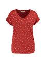 garcia t-shirt met allover print ge900800 rood