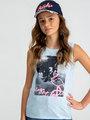 Garcia T-shirt Mouwloos D92621 Blauw
