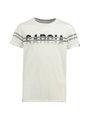 garcia t-shirt met opdruk n03610 wit