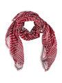 sarlini sjaal met allover print rood