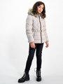 garcia puffer jas met ceintuurband gj920801 wit