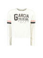 garcia long sleeve met tekst h92606 wit