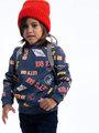 garcia sweater met patchwork j95660 blauw
