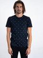 garcia t-shirt met allover print l91006 blauw