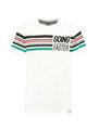garcia t-shirt met strepen h93601 wit