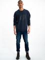 garcia sweater met opdruk i91064 blauw