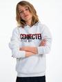 garcia hoodie met tekst i93460 wit