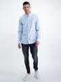 garcia overhemd met allover print n01231 blauw