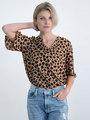 garcia blouse met allover panterprint n00237 bruin