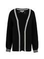 garcia vest met streep l90050 zwart