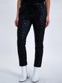 garcia pantalon met panterprint l90110 zwart