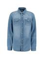 garcia denim overhemd m03430 blauw
