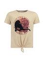 garcia t-shirt met opdruk m02403 beige
