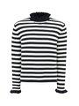 garcia gestreepte trui i92442 zwart-wit