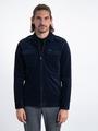 garcia overhemd met rits l91099 blauw