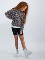 garcia hoodie met allover print n02661 wit