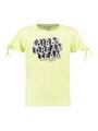 garcia t-shirt met tekstprint e92404 geel