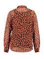 garcia blouse met allover print j90239 oranje