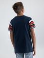 garcia t-shirt met opdruk m03405 blauw