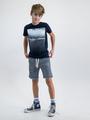 garcia t-shirt met opdruk o03400 blauw