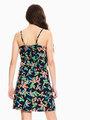garcia jurk met allover print donkerblauw q02481