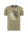 garcia t-shirt met opdruk h91203 groen
