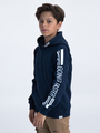 garcia hoodie met tekst ge930901-292 blauw