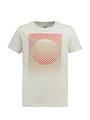 garcia t-shirt met opdruk n03601 grijs