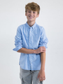 garcia overhemd m03431 blauw