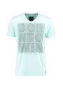 Chief T-shirt Korte Mouwen V-hals PC910507 Aqua Blauw