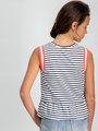 Garcia T-shirt Mouwloos D92622 Gestreept