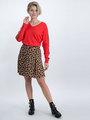 garcia trui met sportieve strepen n00242 rood